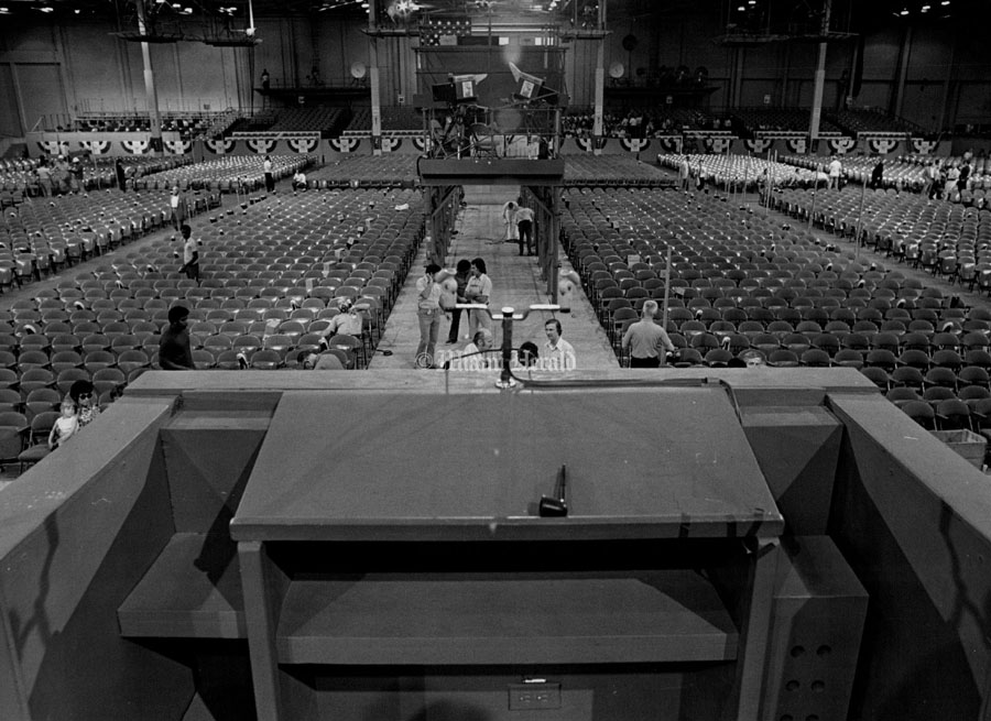 7 1972 Bob East Miami Herald Staff View Of The Hall From Speakers Stand Beach Convention